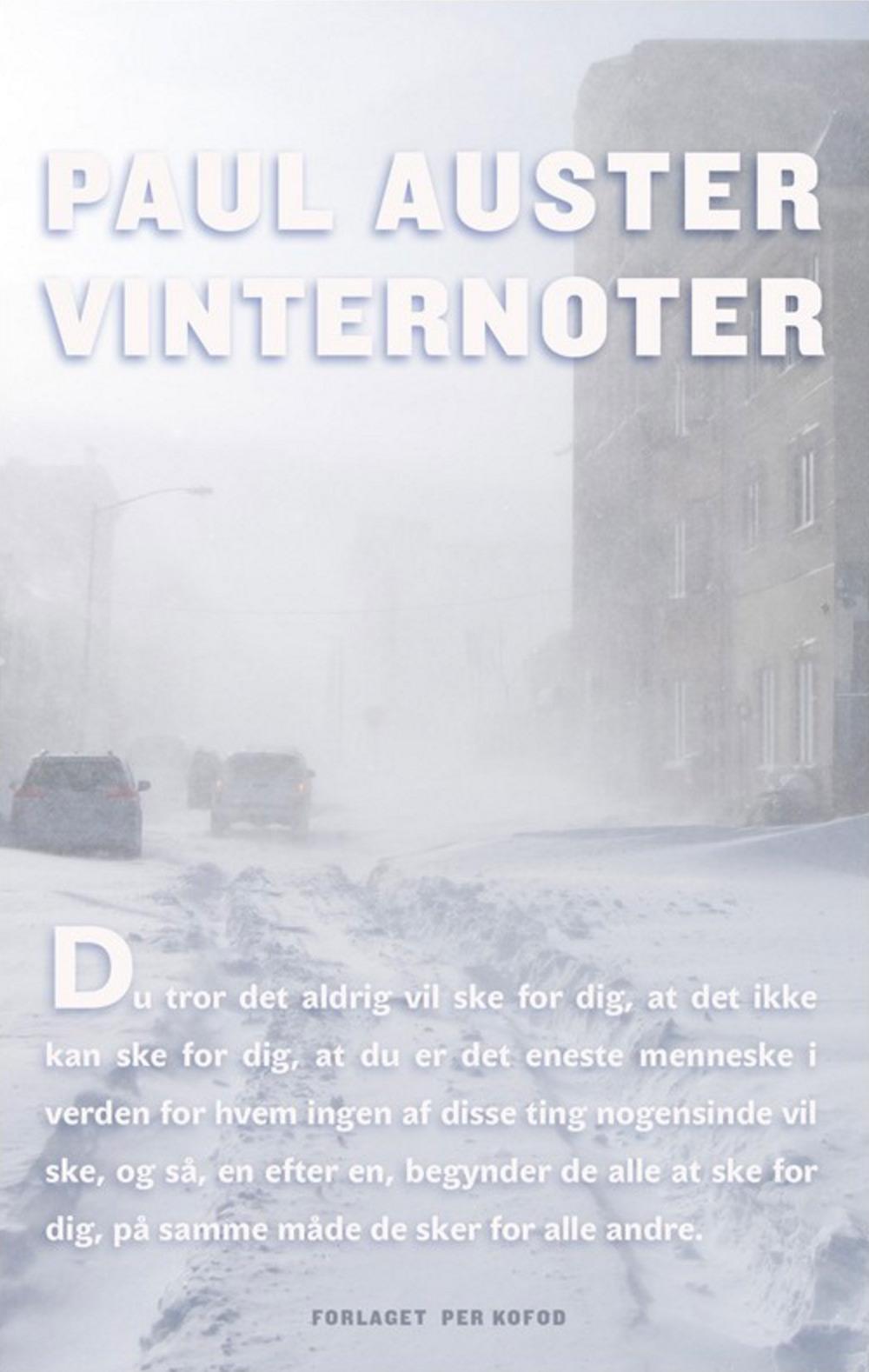 Vinternoter, Paul Auster